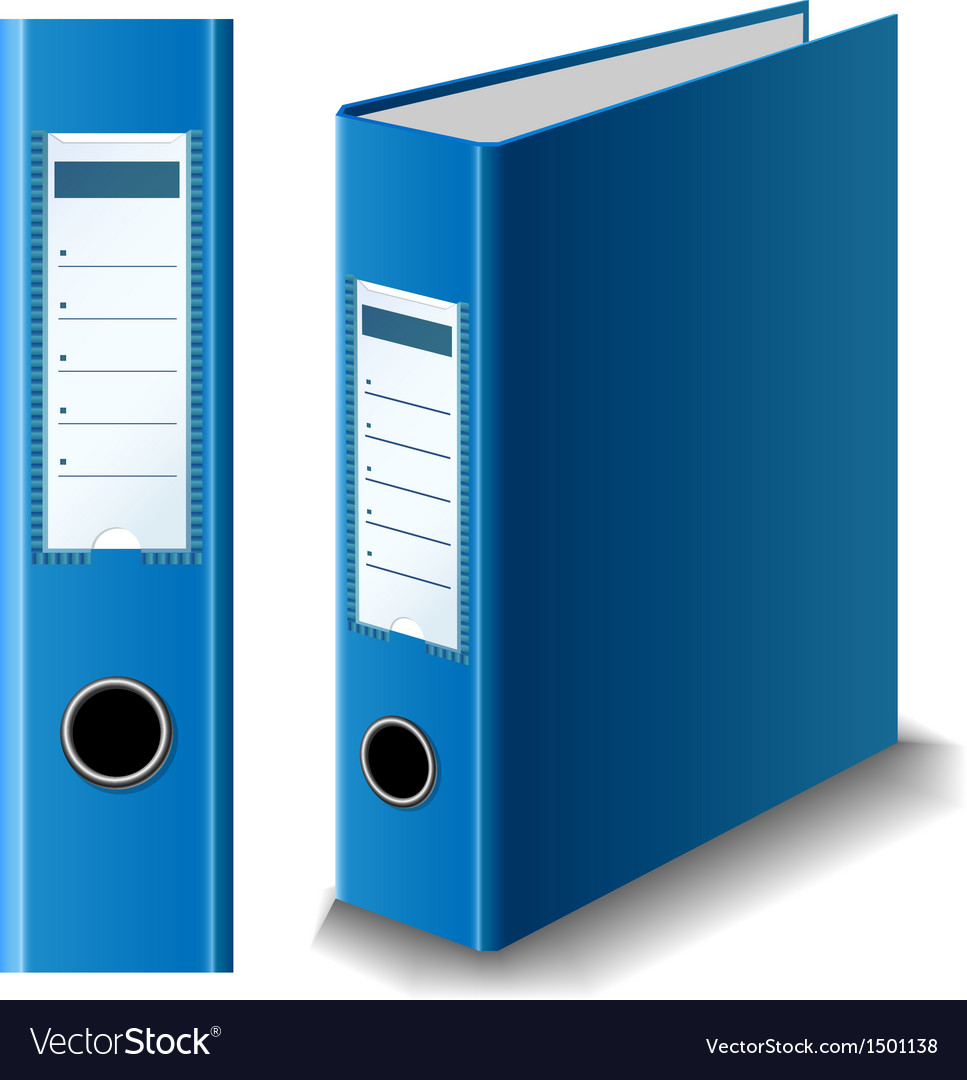 Blue binder vector | Price: 1 Credit (USD $1)