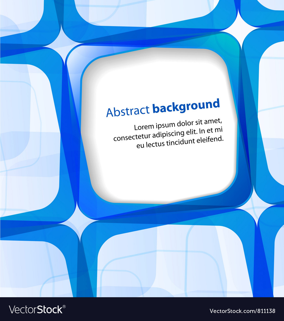 Blue square and frame background vector | Price: 1 Credit (USD $1)