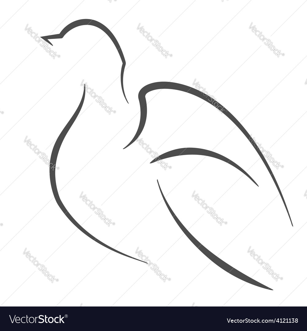 Dove outline vector | Price: 1 Credit (USD $1)