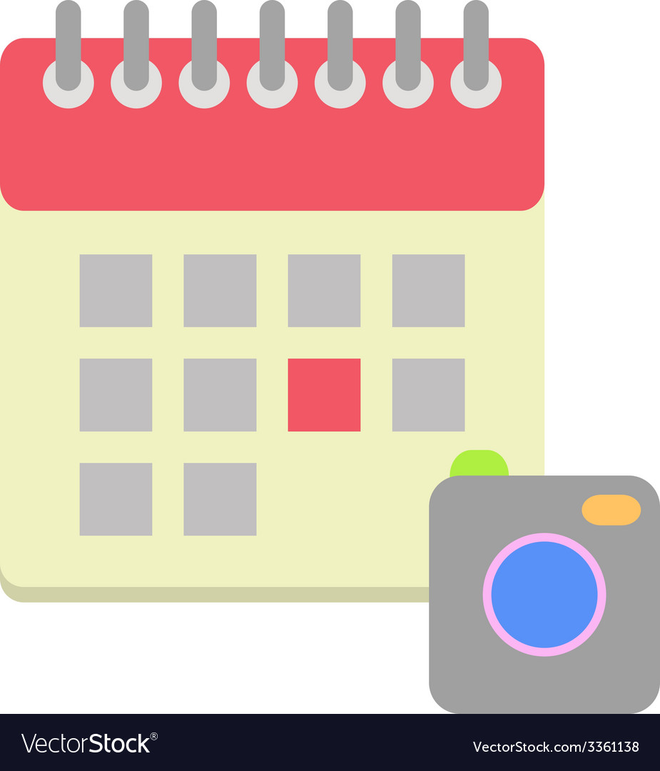 Flat style calendar icon vector | Price: 1 Credit (USD $1)