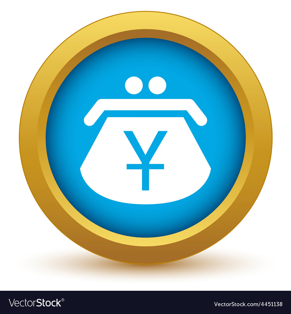 Gold yen purse icon vector | Price: 1 Credit (USD $1)