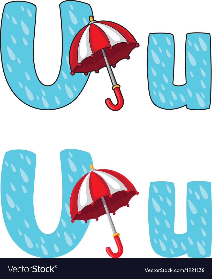 Letter u umbrella vector | Price: 1 Credit (USD $1)