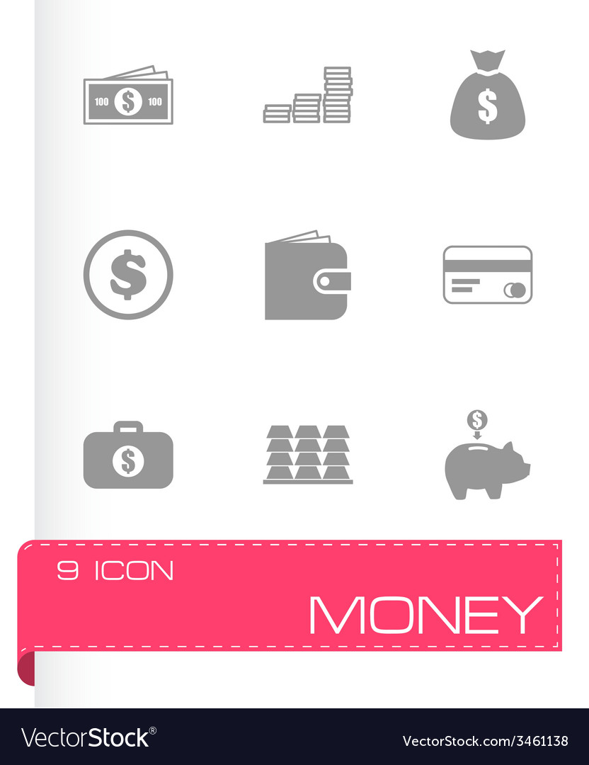 Money icon set vector | Price: 1 Credit (USD $1)