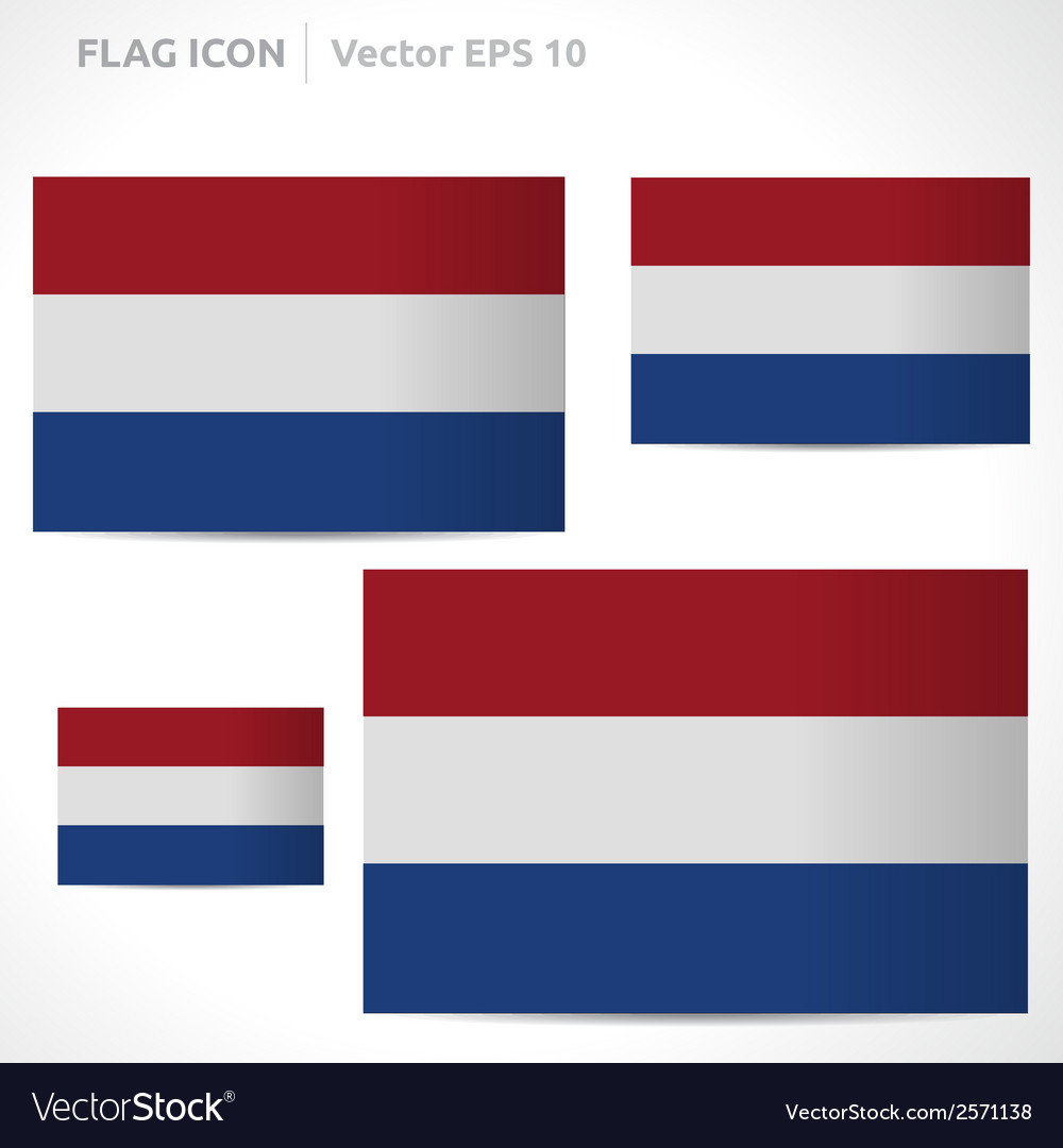 Netherlands flag template vector | Price: 1 Credit (USD $1)