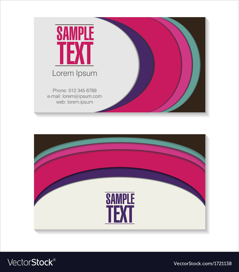 Retro business card vector   Price: 1 Credit (USD $1)
