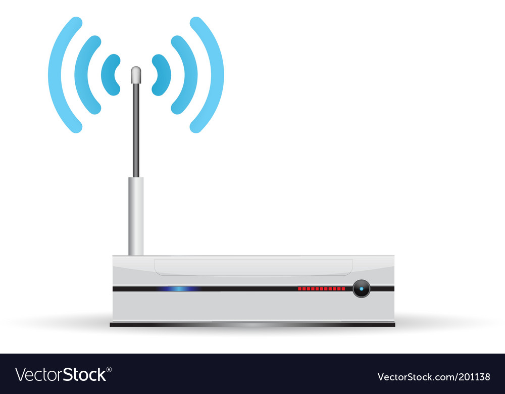 Router wireless vector | Price: 3 Credit (USD $3)