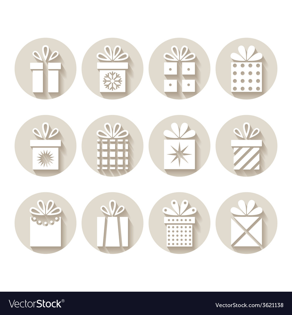 Set of gifts packages vector | Price: 1 Credit (USD $1)
