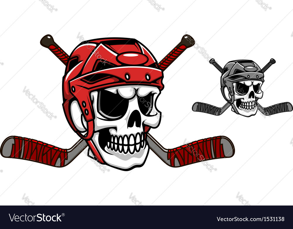 Skull in ice hockey helmet vector | Price: 3 Credit (USD $3)