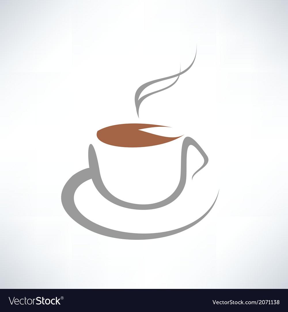 Tea cup symbol vector | Price: 1 Credit (USD $1)