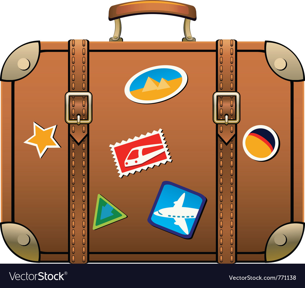 Travel luggage vector | Price: 3 Credit (USD $3)