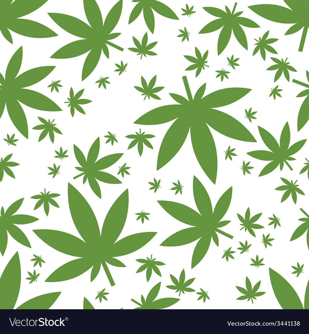 Weed seamless pattern vector | Price: 1 Credit (USD $1)