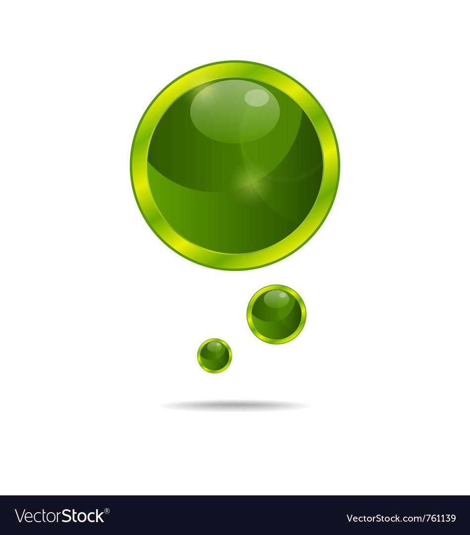 Abstract eco green bubbles - vector | Price: 1 Credit (USD $1)