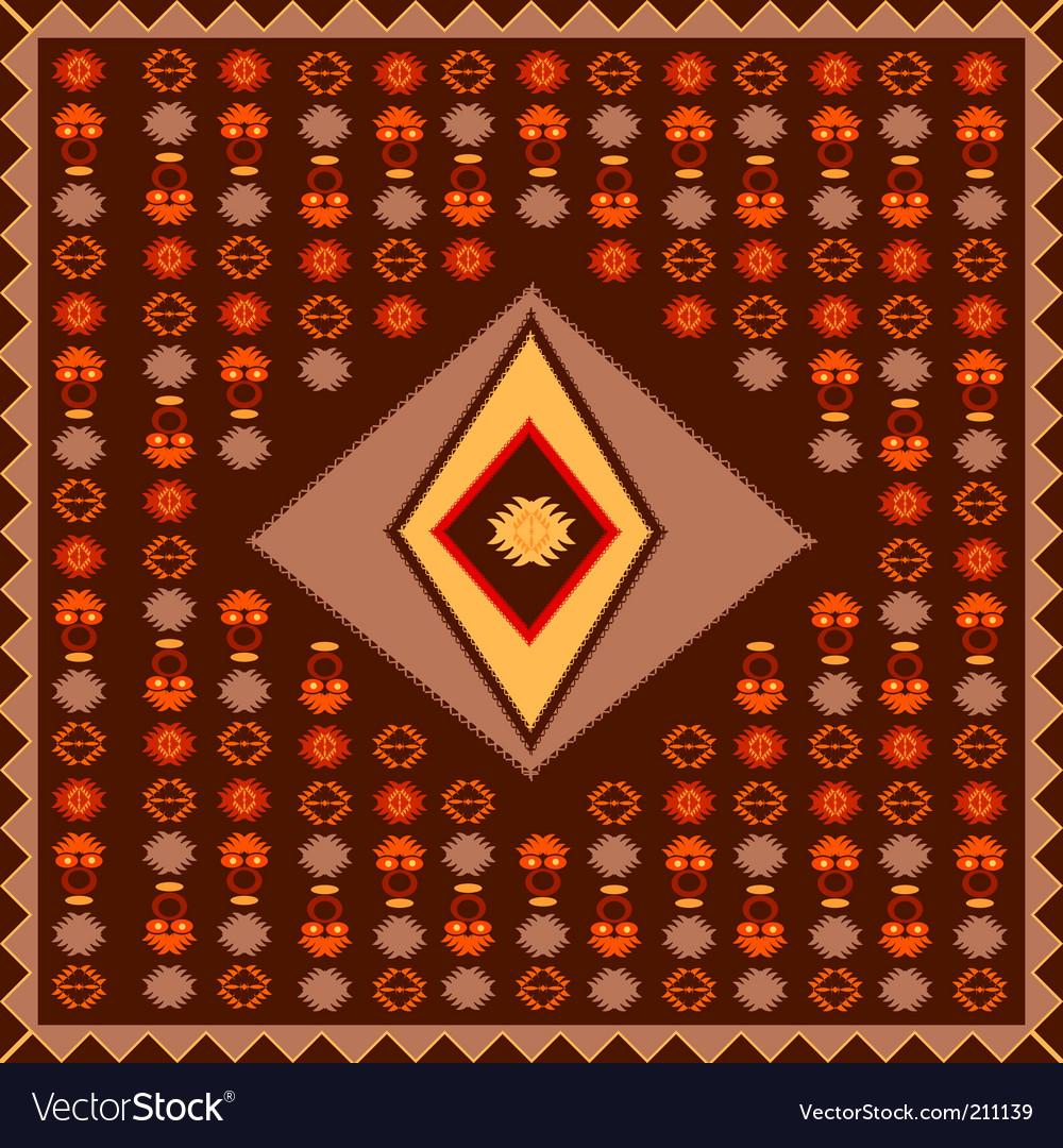 African style poster vector | Price: 1 Credit (USD $1)