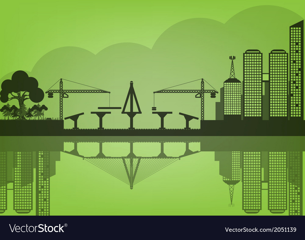 Black cities silhouette urban concept epoch vector | Price: 1 Credit (USD $1)