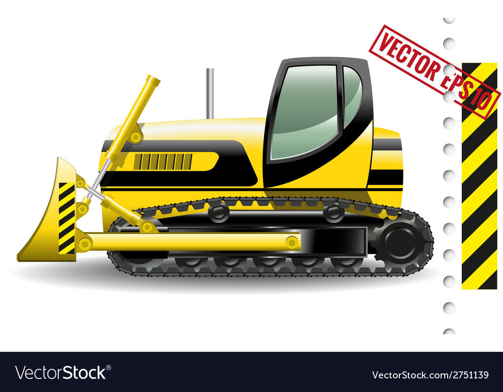 Bulldozer vector | Price: 3 Credit (USD $3)