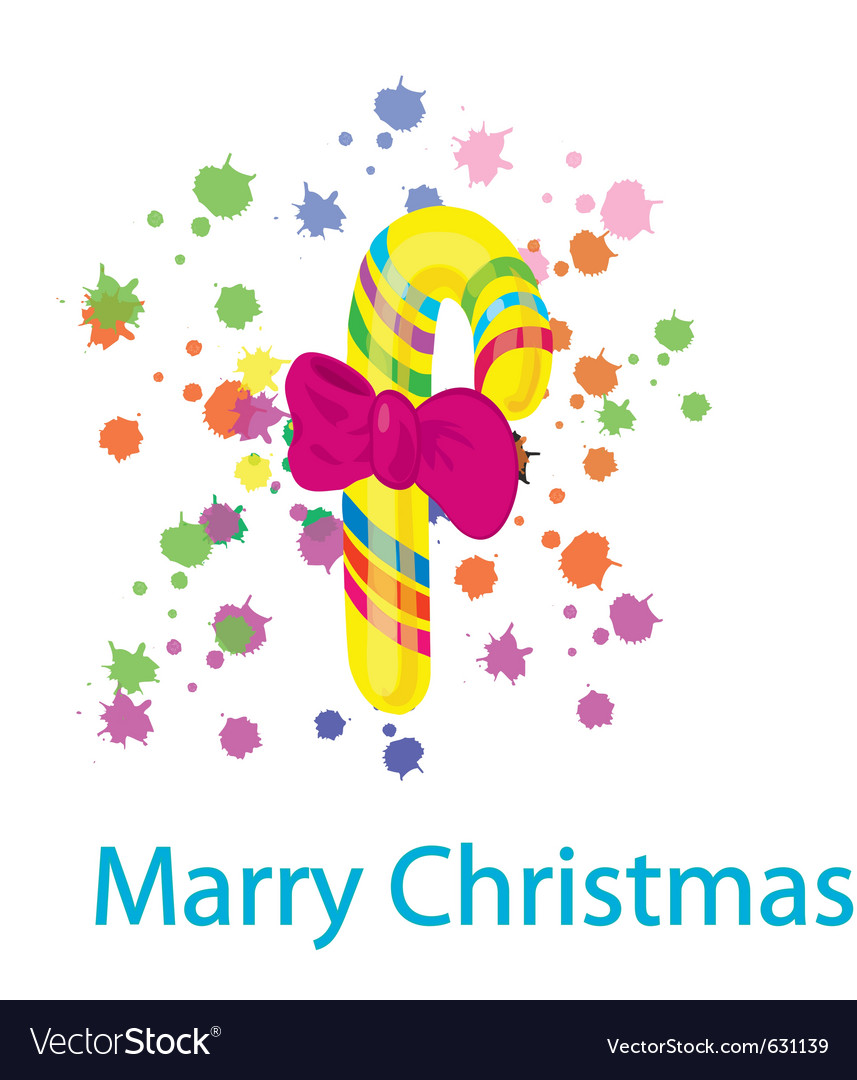 Celebratory sugar candy for christmas with a bow vector   Price: 1 Credit (USD $1)