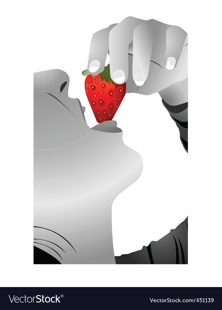 Eat strawberry vector | Price: 1 Credit (USD $1)