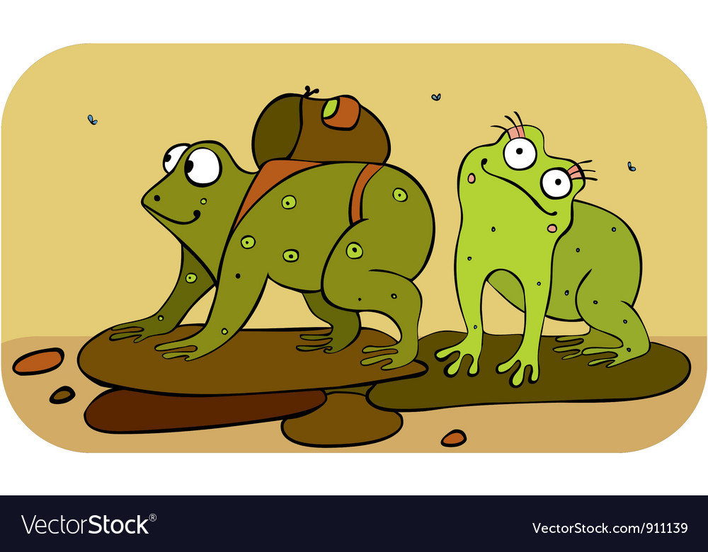 Frogs hiker vector | Price: 1 Credit (USD $1)