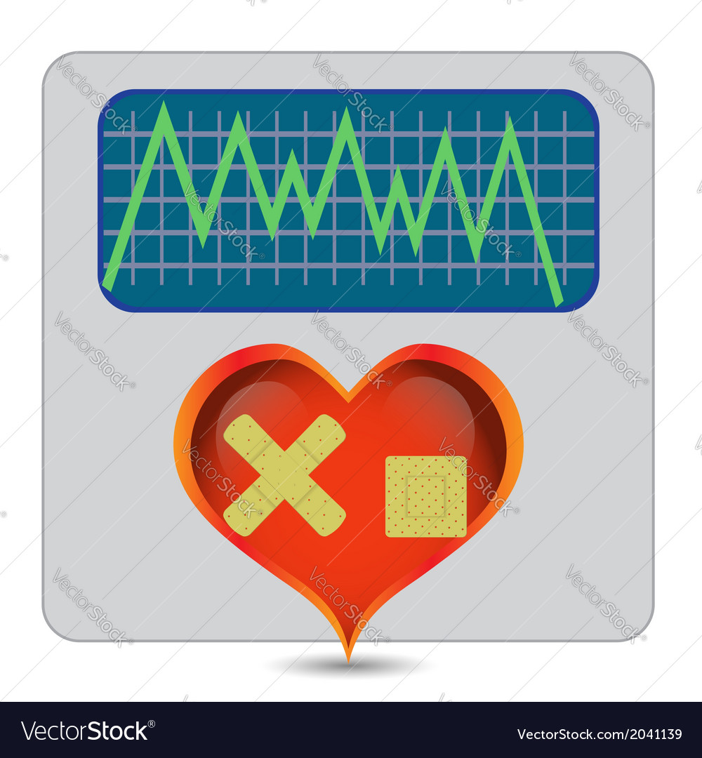 Illness heart vector | Price: 1 Credit (USD $1)