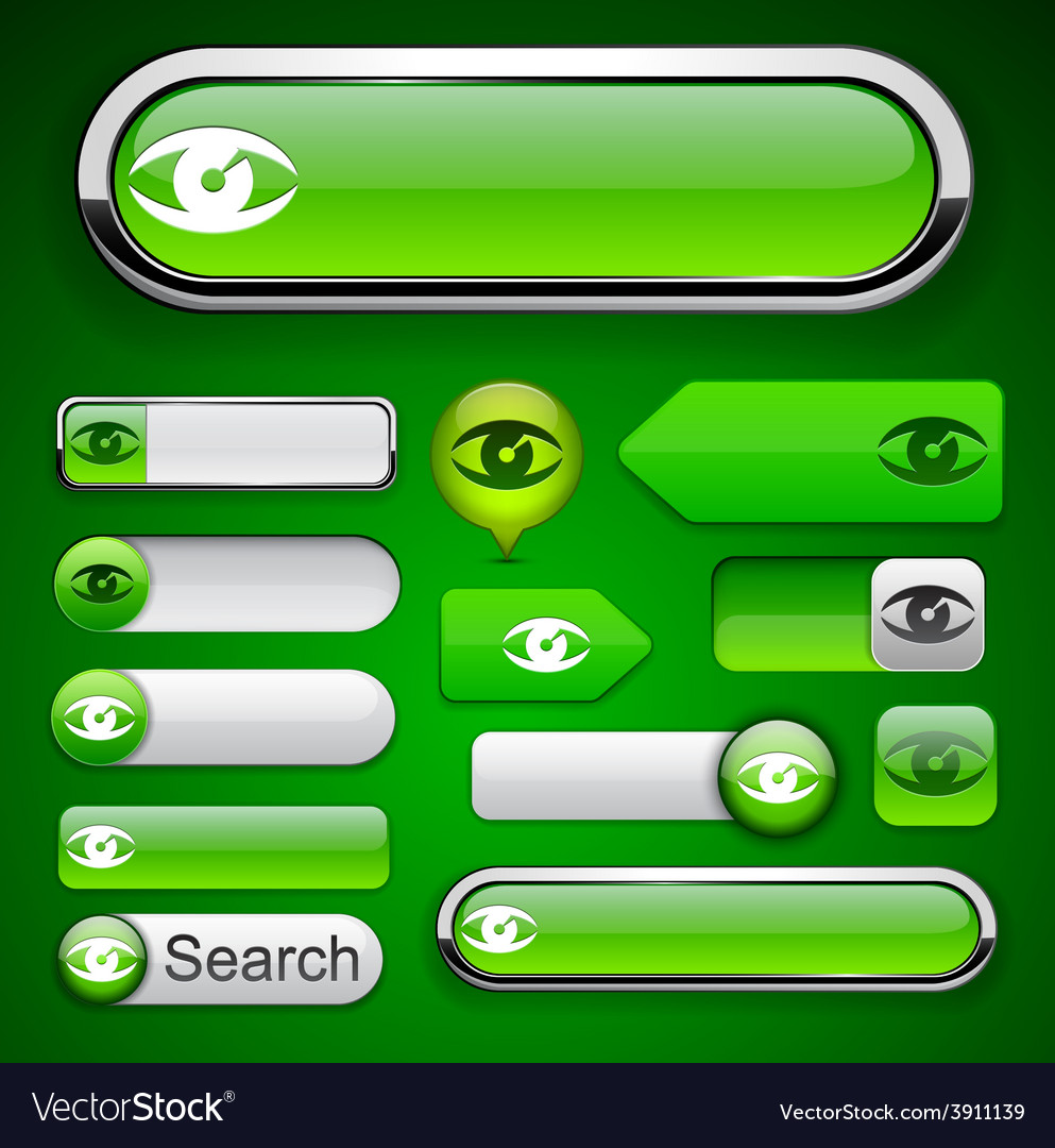 Look high-detailed modern buttons vector | Price: 1 Credit (USD $1)