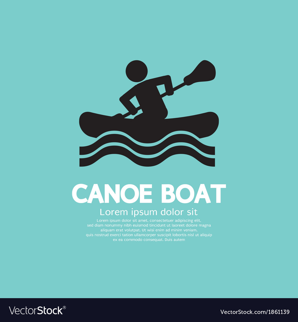 Man row a canoe boat vector | Price: 1 Credit (USD $1)