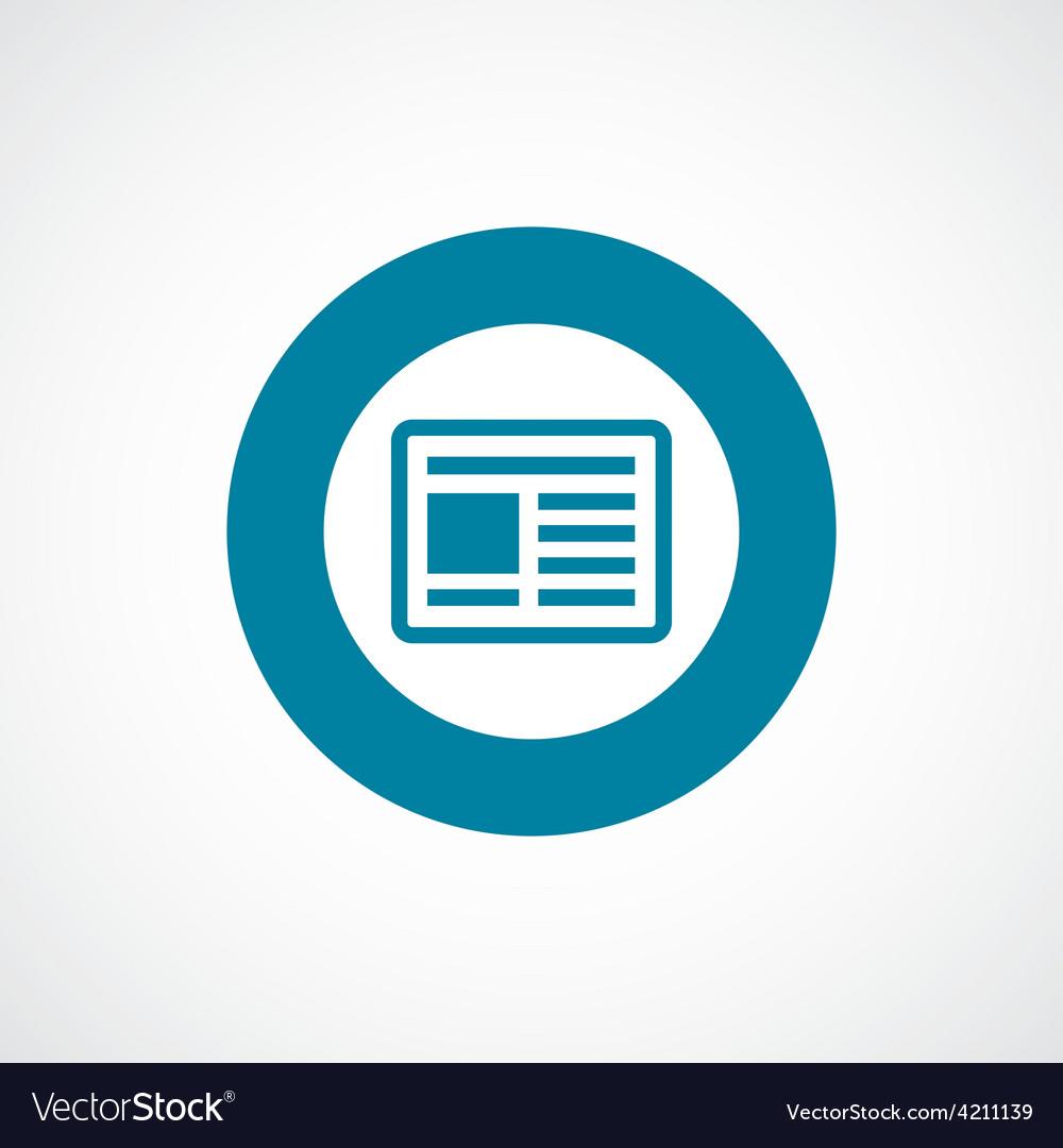 News icon bold blue circle border vector | Price: 1 Credit (USD $1)