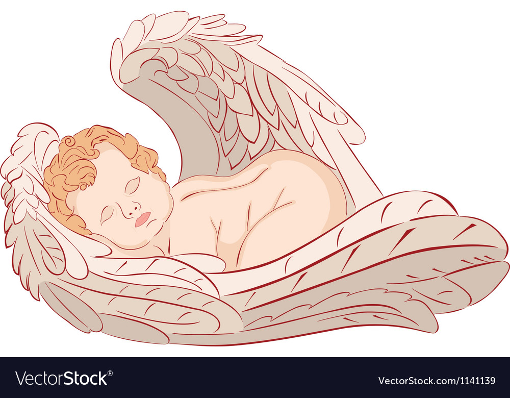 Sleeping angel vector | Price: 1 Credit (USD $1)