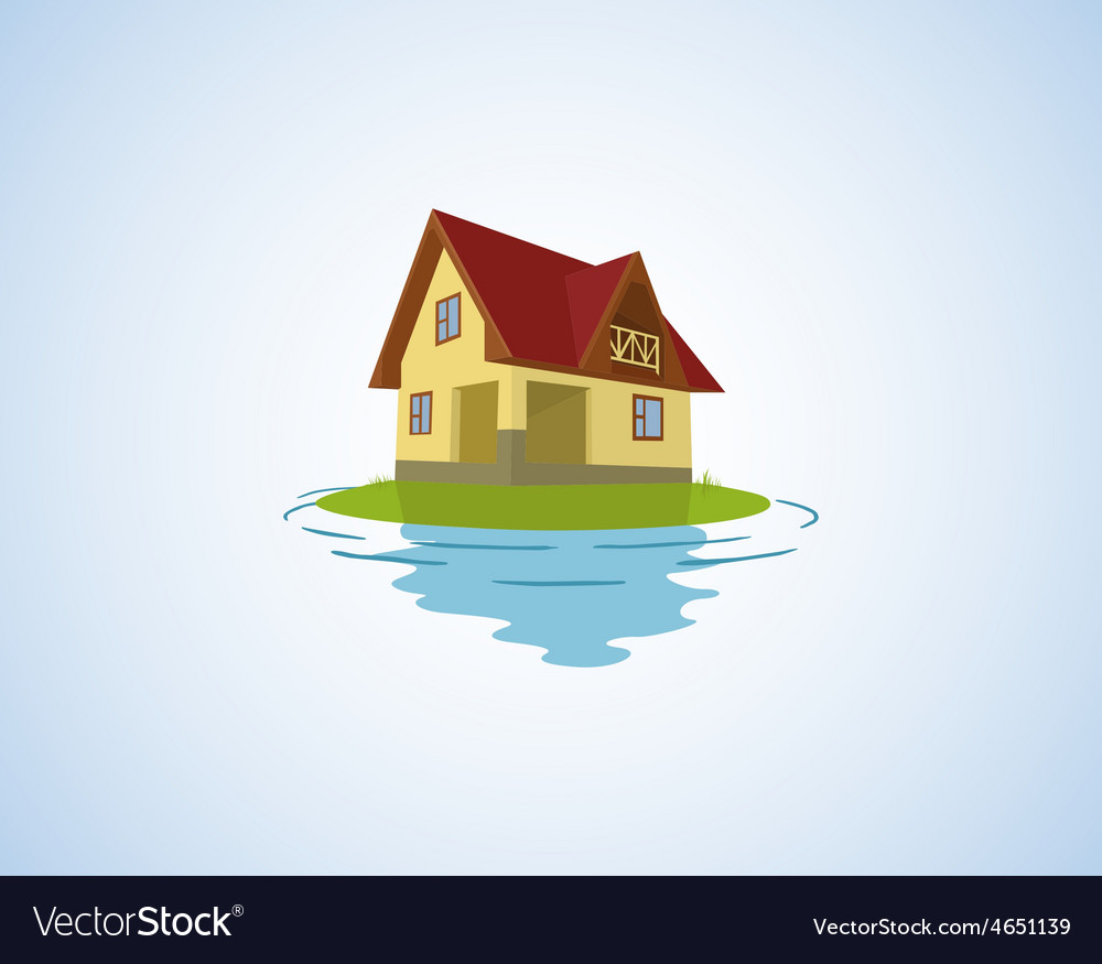 The small house on a light background vector | Price: 1 Credit (USD $1)