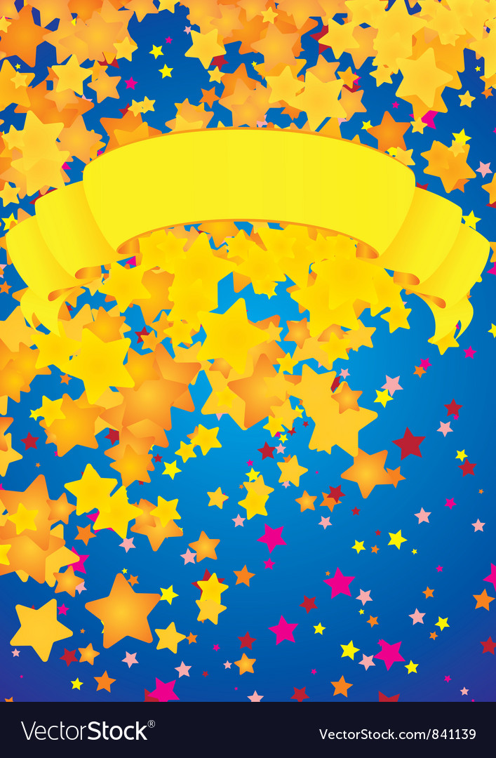 Stars rain vector | Price: 1 Credit (USD $1)