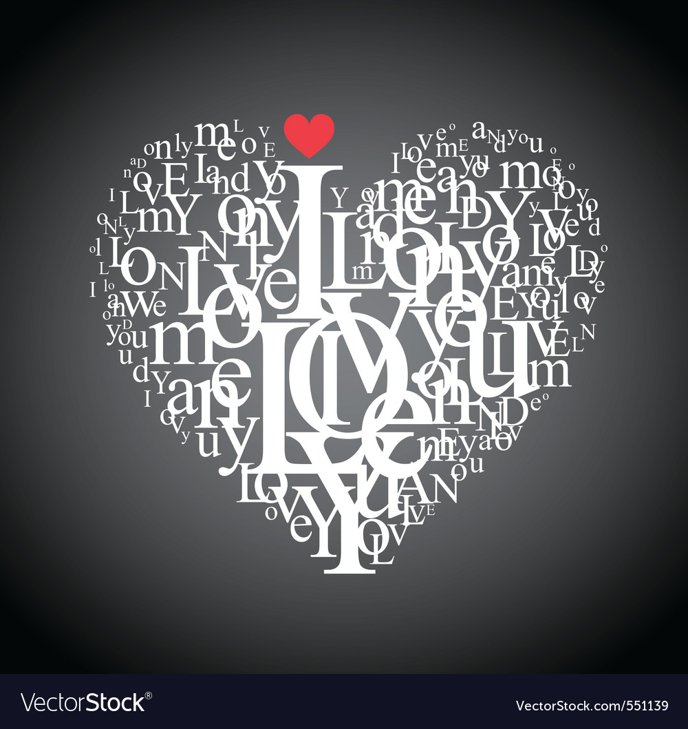 Typography heart vector | Price: 1 Credit (USD $1)