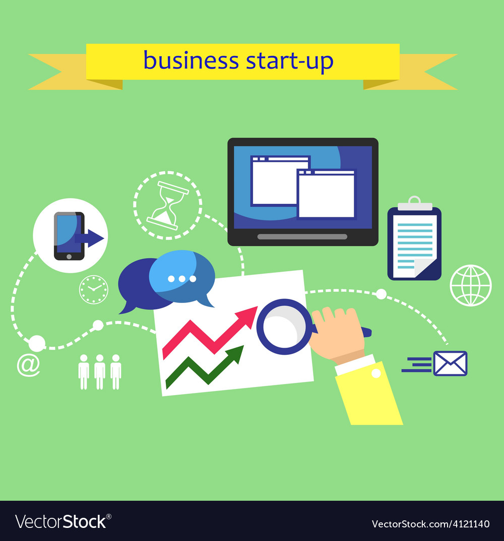Business plan strategy vector | Price: 1 Credit (USD $1)