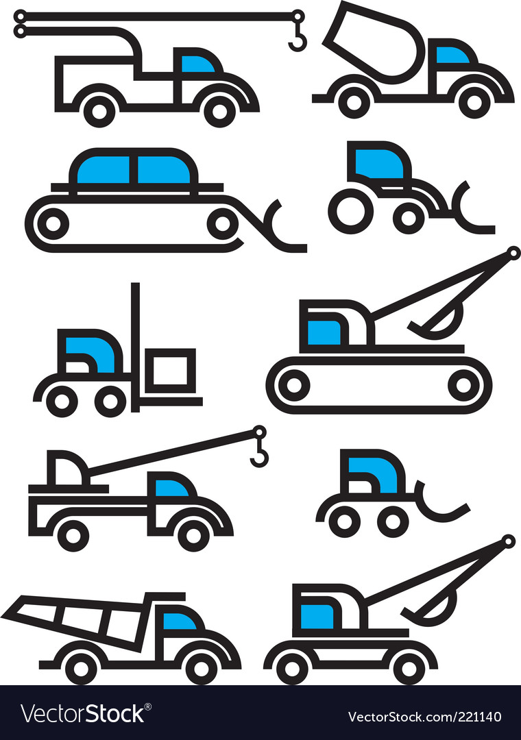 Construction equipment vector | Price: 1 Credit (USD $1)