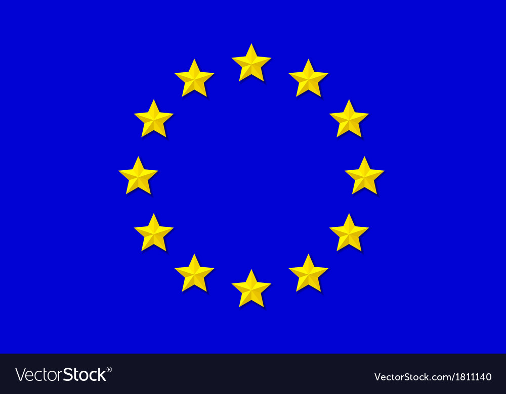 Flag of eu vector | Price: 1 Credit (USD $1)
