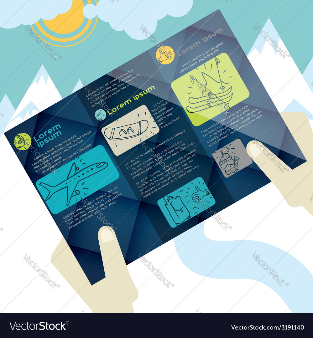 Flat design brochure template vector   Price: 1 Credit (USD $1)