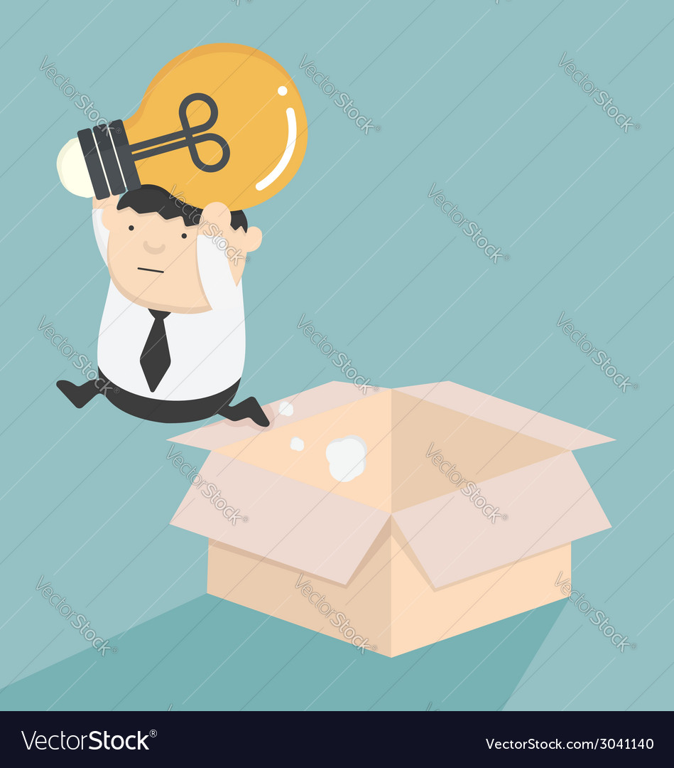 Jump out of the box vector | Price: 1 Credit (USD $1)