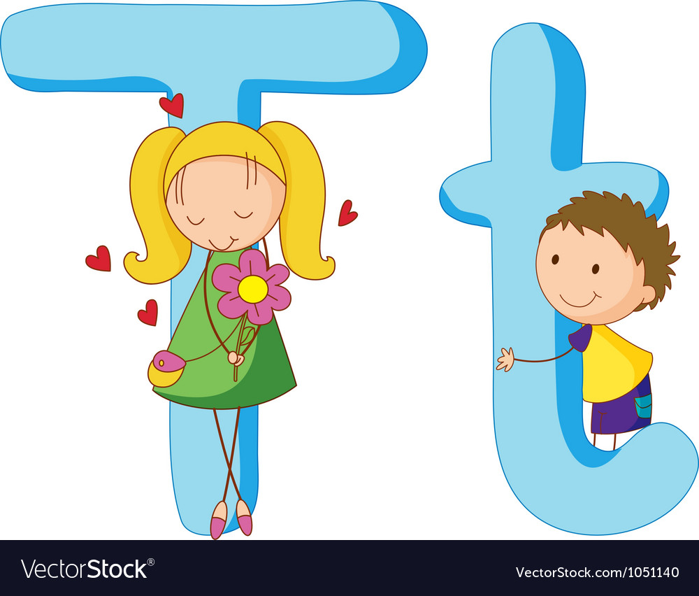 Kids in the letters series vector | Price: 3 Credit (USD $3)
