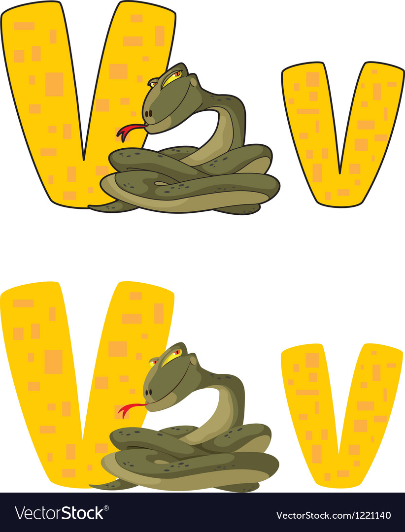 Letter v viper vector | Price: 1 Credit (USD $1)