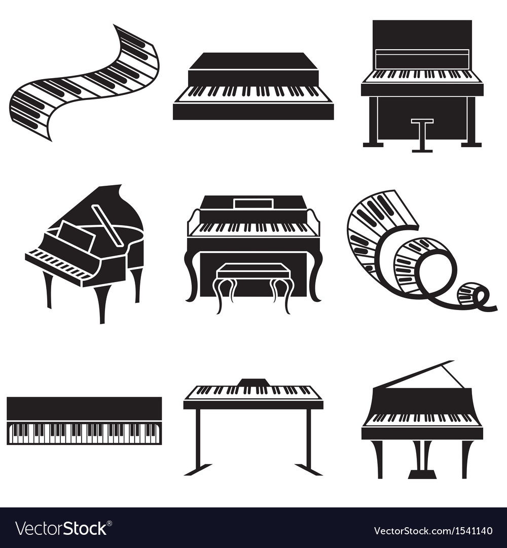 Logo icons piano vector | Price: 1 Credit (USD $1)