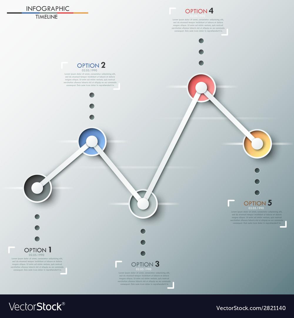Modern infographics timeline vector | Price: 1 Credit (USD $1)