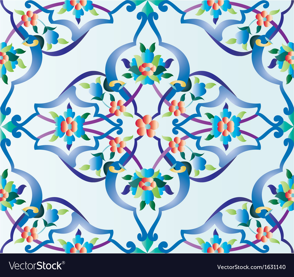 Ottoman tile vector | Price: 1 Credit (USD $1)