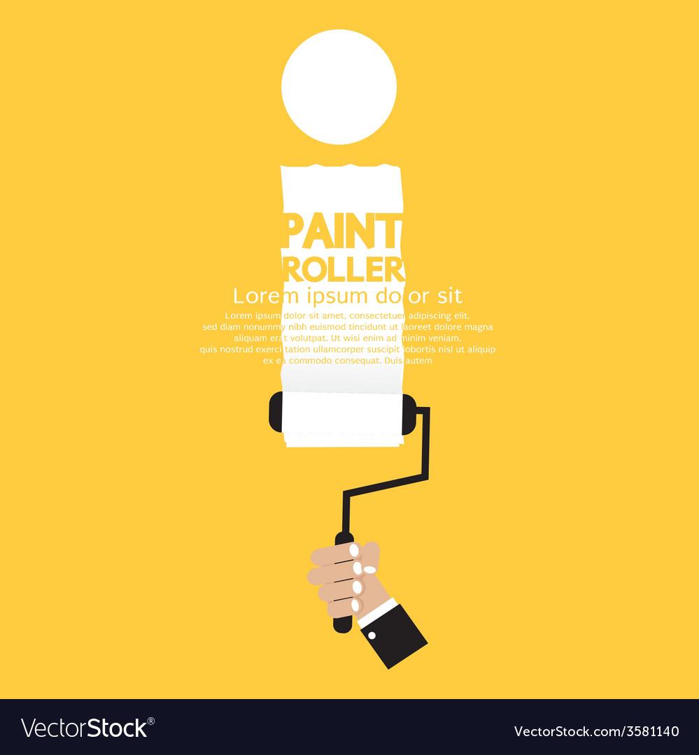 Paint roller alphabet i vector | Price: 1 Credit (USD $1)