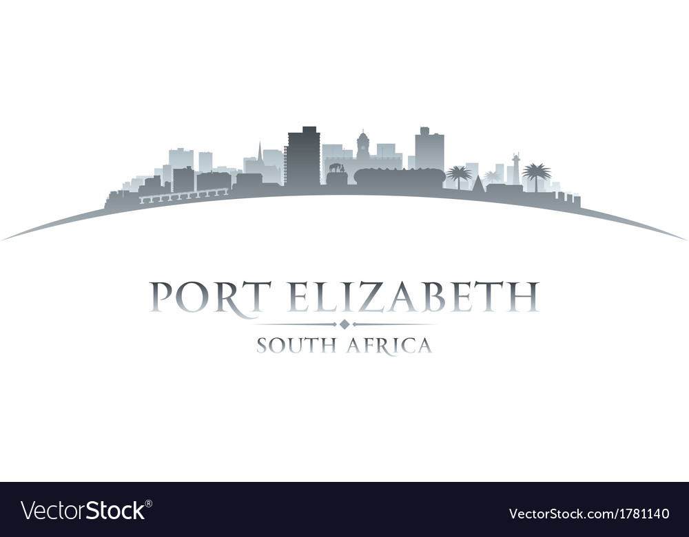 Port elizabeth south africa city skyline silhouett vector | Price: 1 Credit (USD $1)
