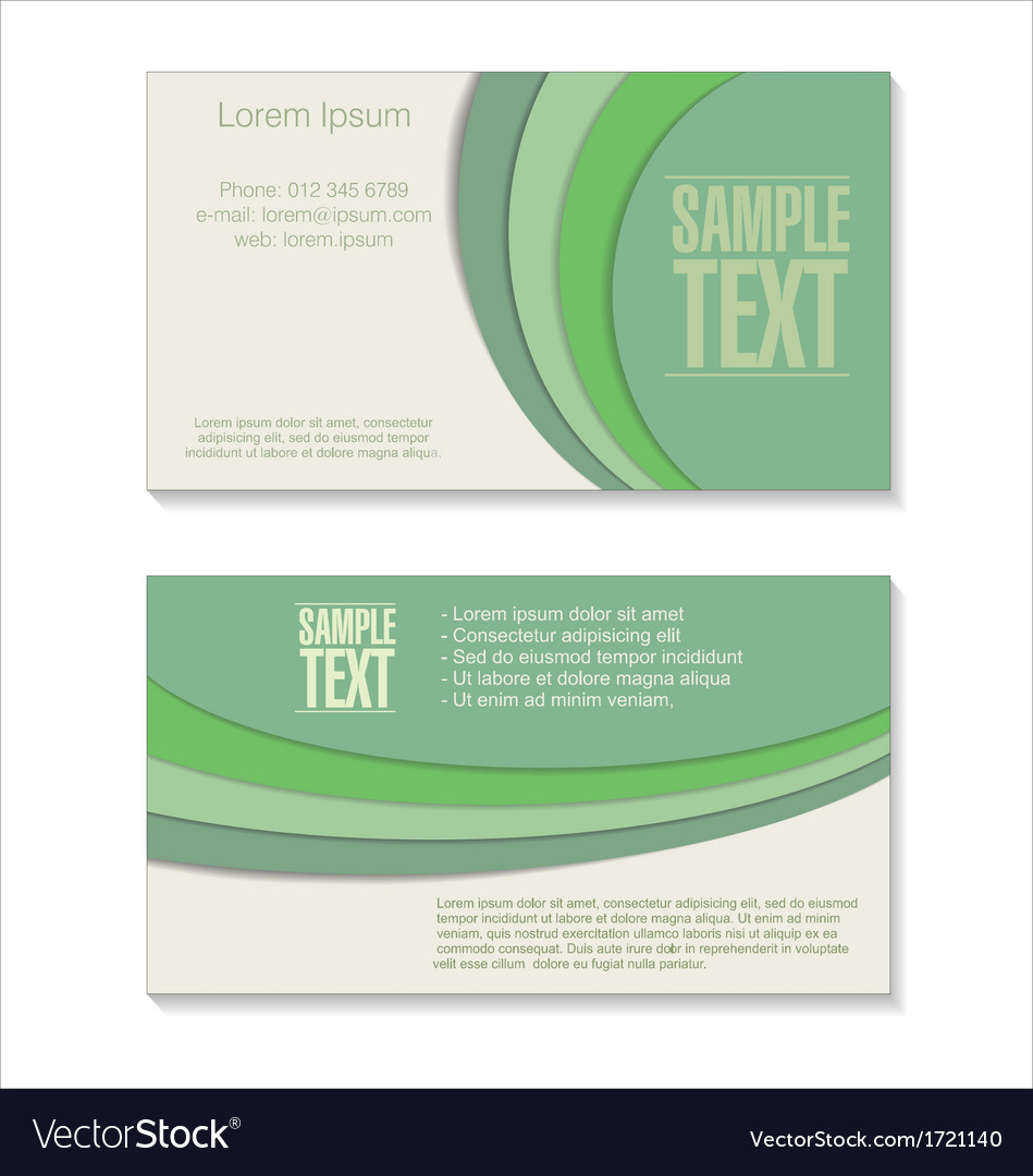 Retro green business card vector | Price: 1 Credit (USD $1)