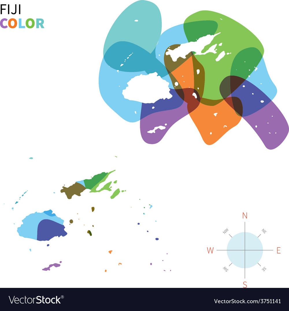 Abstract color map of fiji vector | Price: 1 Credit (USD $1)