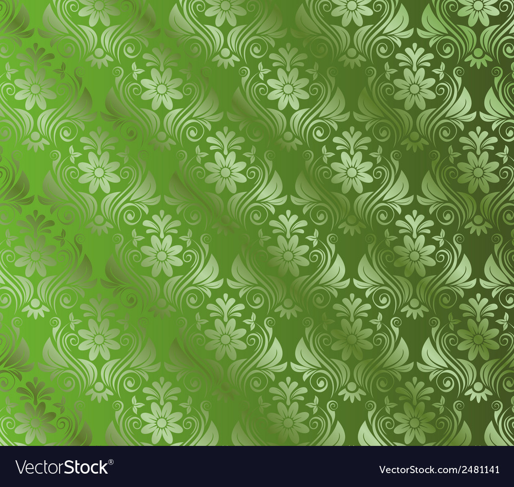 Abstract green background with floral vector | Price: 1 Credit (USD $1)
