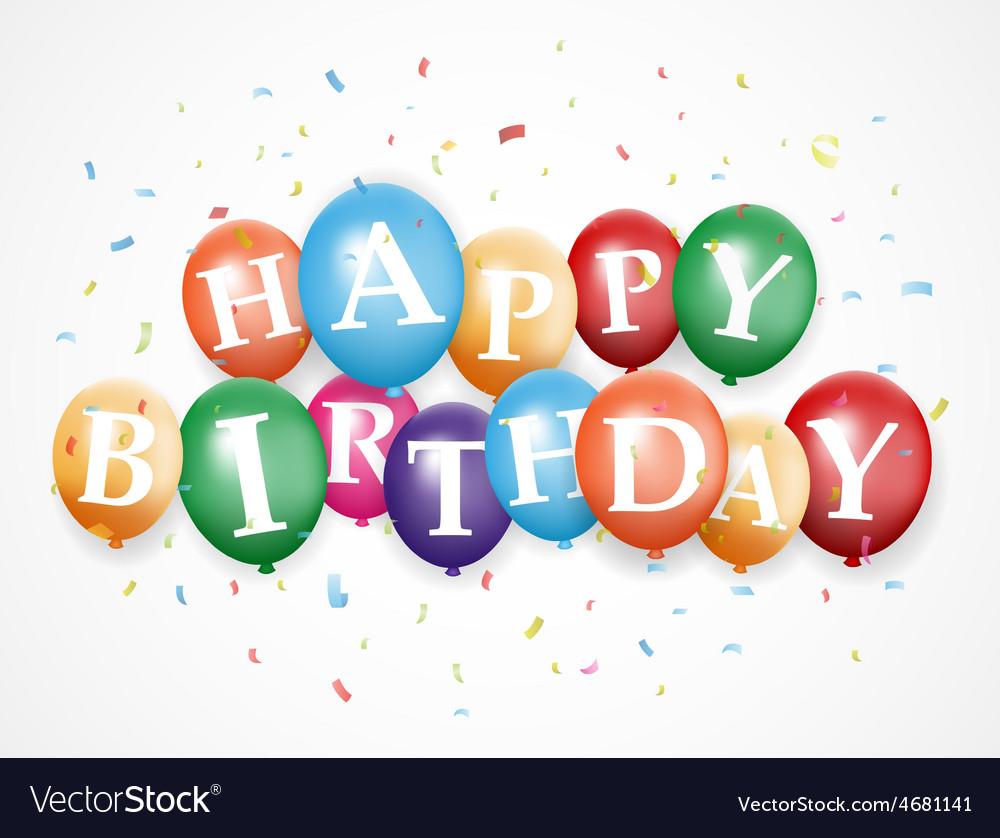 Birthday balloon background vector | Price: 1 Credit (USD $1)