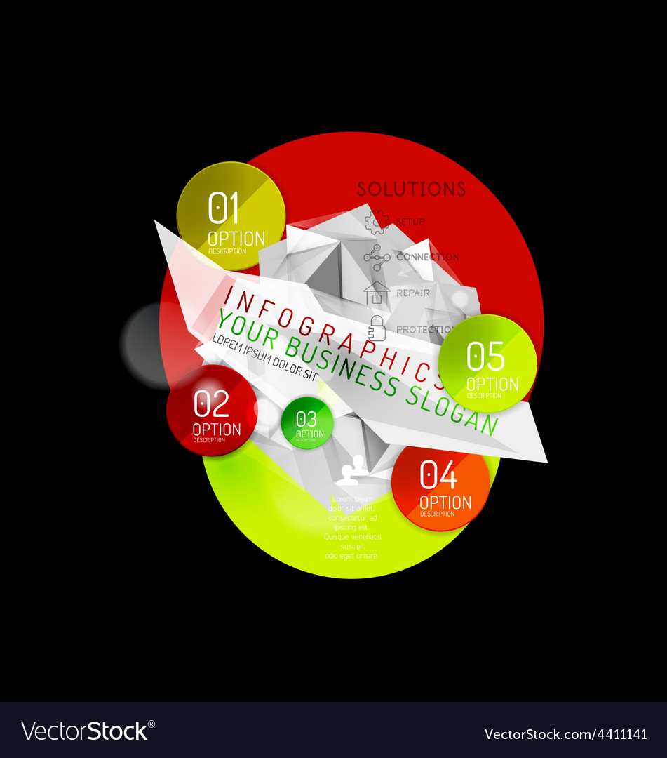 Business abstract triangular infographics layout vector | Price: 1 Credit (USD $1)