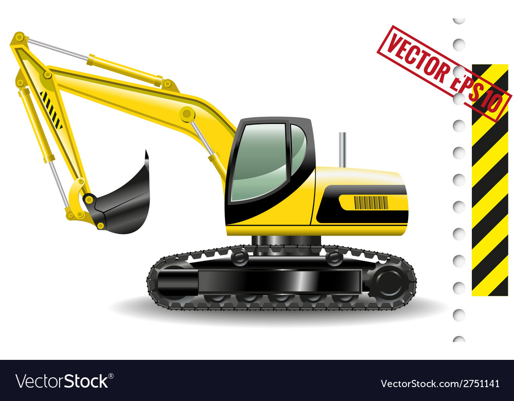 Excavator vector | Price: 3 Credit (USD $3)