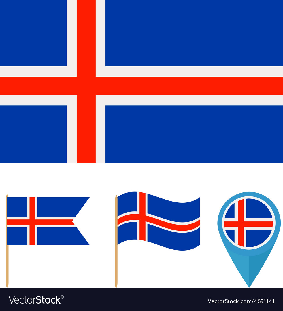 Icelandcountry flag vector | Price: 1 Credit (USD $1)