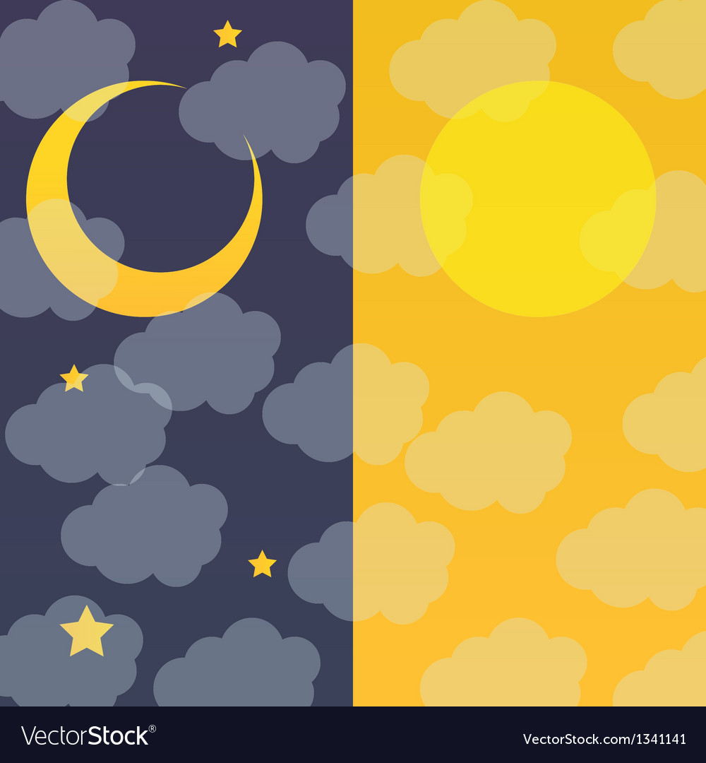 Night and day vector | Price: 1 Credit (USD $1)